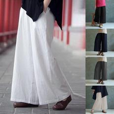 Women Pants, Plus Size, cottonlinen, Casual pants
