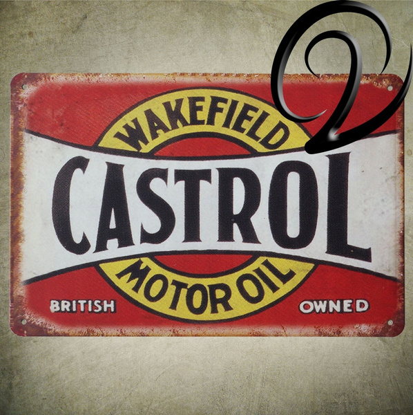 Castrol Extra Motor Oil Esso Girling Car Accessories Tin Sign Metal  Painting Wall Decals Stickers Bar Coffee Tin Signs Decor
