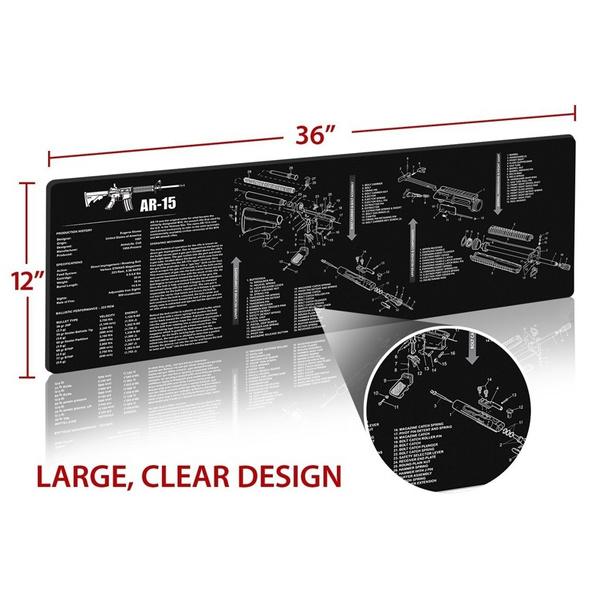Sensational Wish Ar 15 Ak47 Remington 870 Non Slip Gun Rubber Mat With Parts Wiring Database Ioscogelartorg