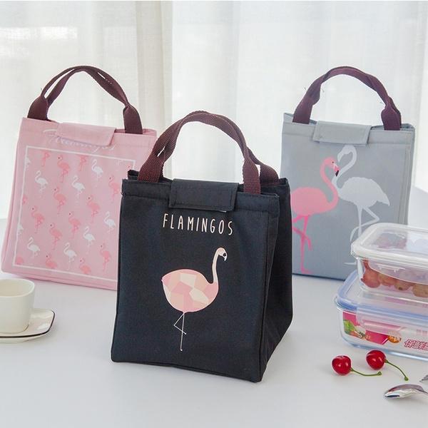 c39946f87dae Cute Animal Flamingo Lunch Bag Girl Portable Insulated Cooler Bags Thermal  Food Picnic Bags