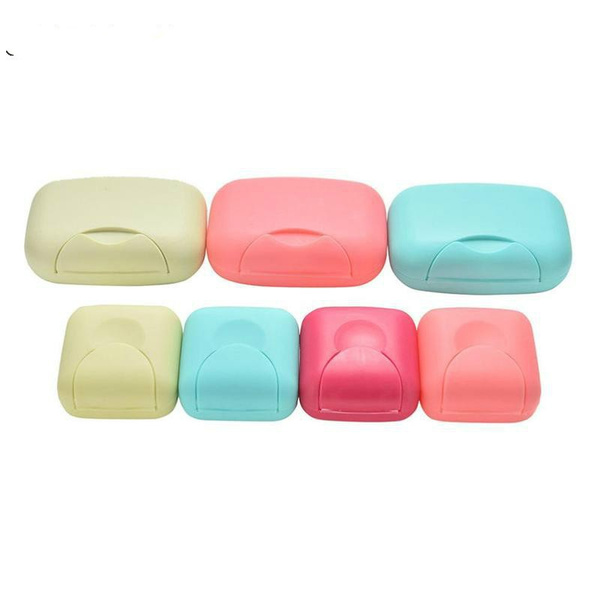 b67d2c4f2805 1pc Creative Bathroom Soap Dishes Box Portable Plate Case Home Shower  Travel Hiking Holder Container Plastic Soap Boxes Case