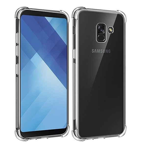 promo code 9fcf2 bb03a Soft Flexible Gel TPU Silicone Crystal Case For Samsung Galaxy A5 2018 / A7  2018 / A8 2018 / A8 Plus 2018 / A6 2018 / A6 Plus / J4 2018 / J6 2018 / J7  ...