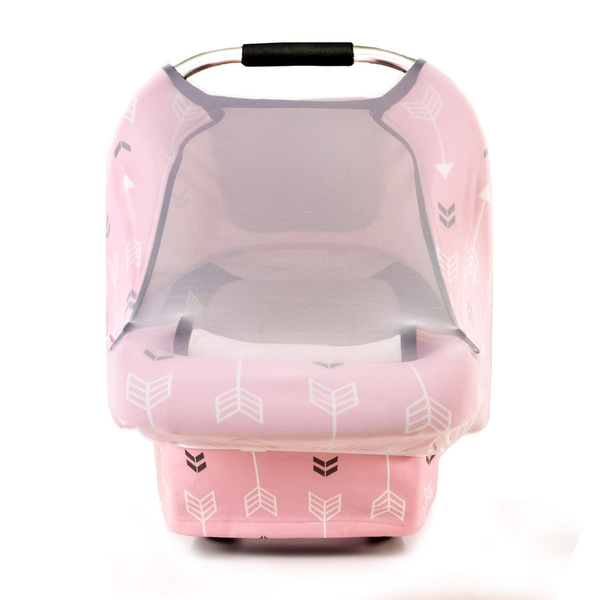 Stretchy Car Seat Cover boys girls infant Car Canopy Snug Warm Breathable Zipped