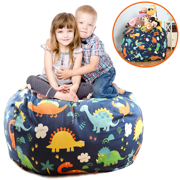Super Extra Large 38 Stuffed Animals Bean Bag Chair Cover 100 Cotton Canvas Kids Toy Storage Zipper Bags Comfy Pouf For Unisex Boys Girls Toddlar Ocoug Best Dining Table And Chair Ideas Images Ocougorg