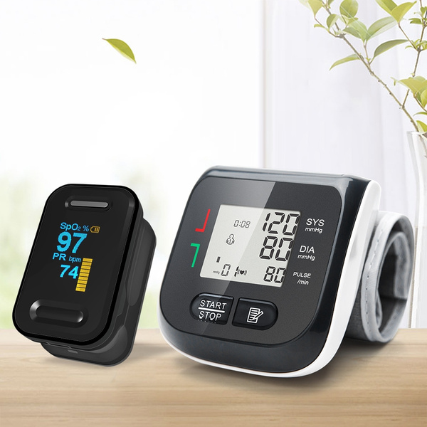 Yongrow YK-81BPW2 Medical Digital Wrist Blood Pressure Monitor and  Fingertip Pulse Oximeter SpO2 Saturation Meter Family Health Care
