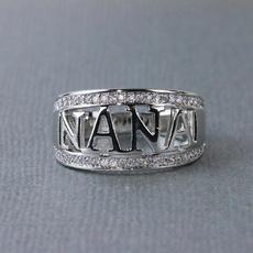 Sterling, Cubic Zirconia, nanaring, DIAMOND