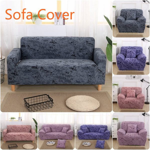 Table & Sofa Linens High Quanlity Solid Color European Style Elastic Cotton Sofa Cover Slipcovers All-inclusive Couch Case For Different Shape Sofa