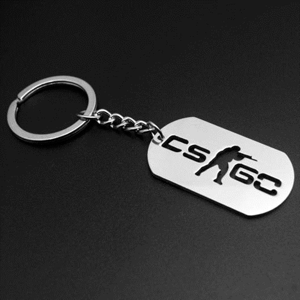 Game Half Life Csgo Key Chain Key Holder Counter Strike Cs Go Keychains Stainless Steel