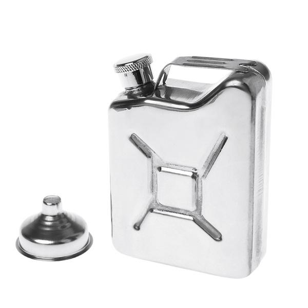 5oz Stainless Steel Jerry Can Hip Flask LiquorWhisky Pocket Bottle