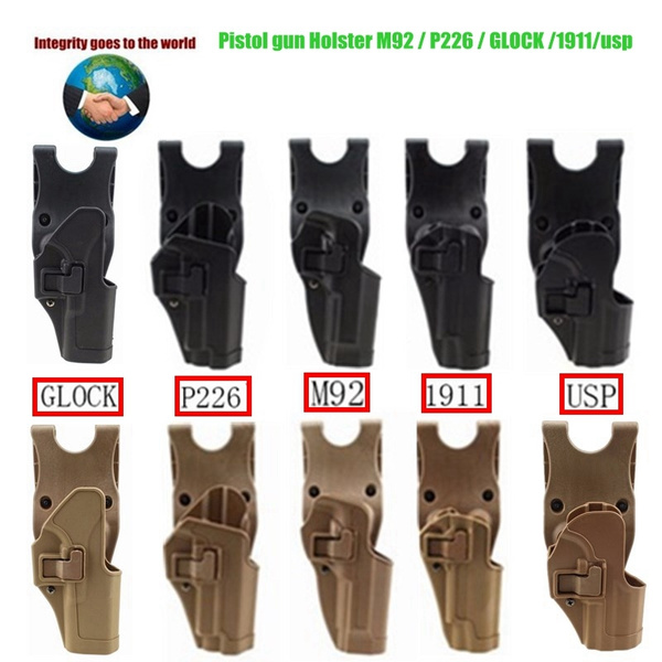 New high quality outdoor tactical handgun holster, military concealment,  right arm oar belt pistol holster (adapted to M92 / P226 / USP/GLOCK /  1911)