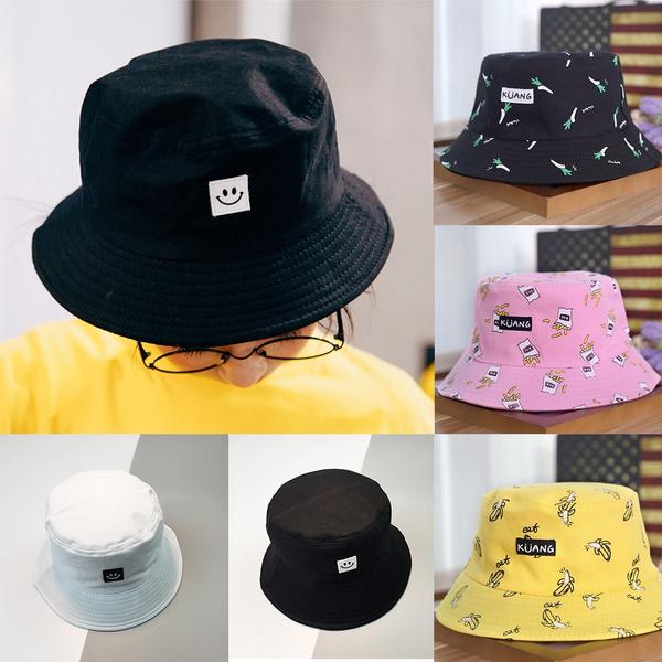 Vintage Fisherman Hat Couple Sunhat Cap Punk Adult Hat Outdoor Cap Hat