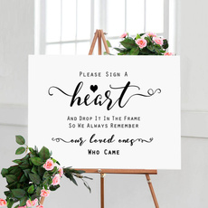 Heart, dropheartguestbookreceptionsign, rusticweddingsign, receptionsign