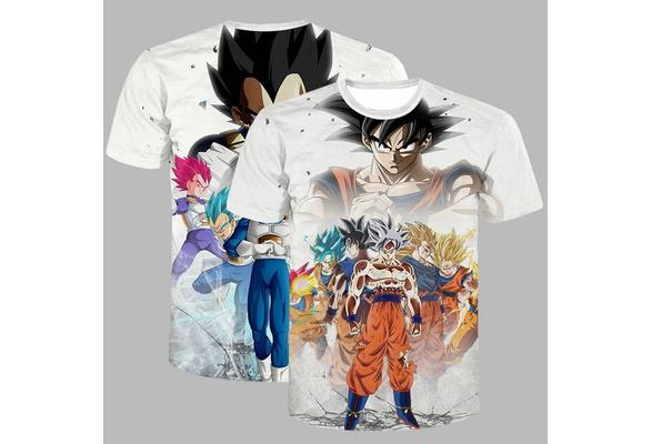 New Summer Men 's Fashion Cotton Short Sleeve O Neck Casual T-shirt 3D Seven Dragon Ball Print Personality Tops