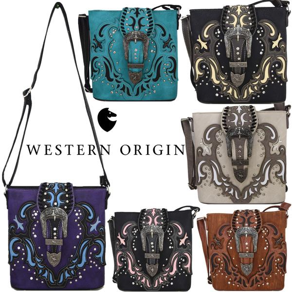 Western Style Buckle Belts Cross Body