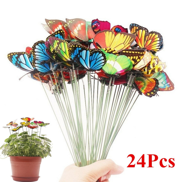butterfly, Home Decor, Colorful, butterflystake