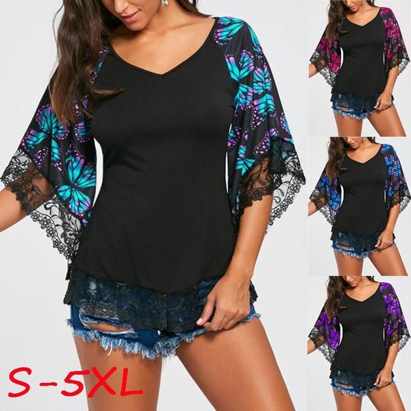 butterfly, Fashion, long shirt, topsamptshirt