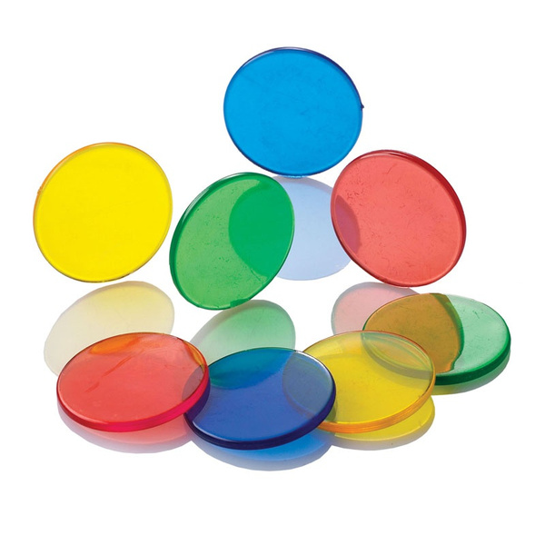 Learning Resources LER0131 Transparent Color Counting Chips Set of 250