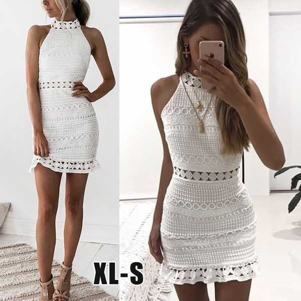Summer, Lace, Hollow-out, Dress