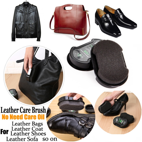 Superb No Need Shoe Polish Double Sided Use Super Soft Sponge Leather Care Brush Leather Shoes Bags Clothes Sofa Sponge Brush With Lanolin Silicone Oil 1Pc Bralicious Painted Fabric Chair Ideas Braliciousco
