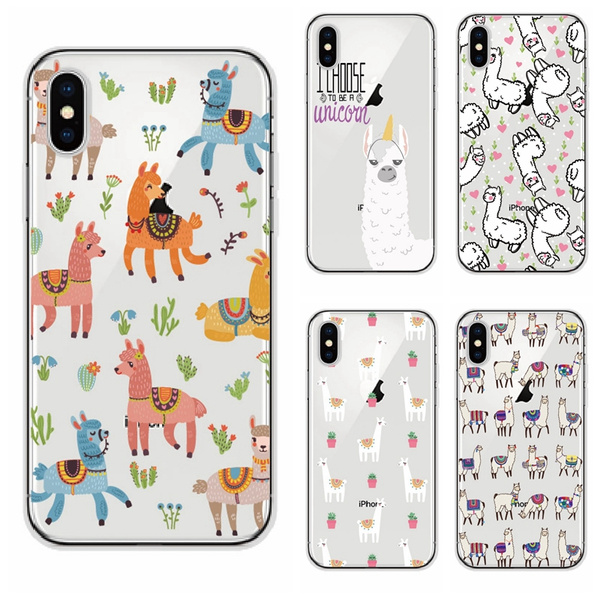 low priced bf3d5 5e94f Cute Alpaca Llama Phone Case For Samsung Galaxy S8 S9 Plus/J500 J510/A520  A510/J5 2015/J5 2016/A5 2017/A5 2016/S7 Edge/S6 Edge/iPhone X/iPhone 8 ...