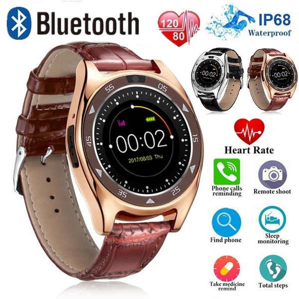 TQ920 Heart Rate Blood Pressure blood oxygen Monitor Slot Wrist Waterproof  Bluetooth Smart Watch(App: Android 3 0 Above)