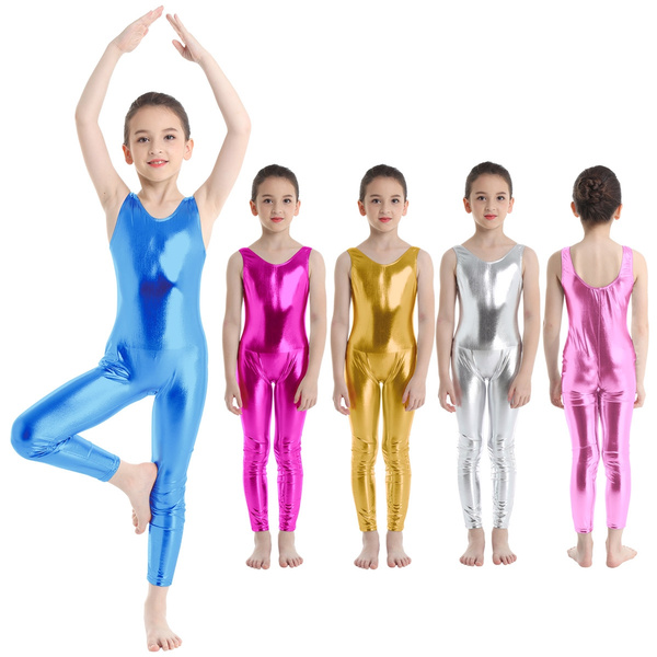 Kids Girl Gymnastics Leotard Ballet Dress Bodysuit Tank Unitard Dance Costume