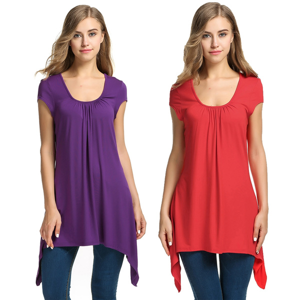 710d3ff52 LARACE Womens Swing Tunic Tops Loose Fit Comfy Flattering T Shirt | Wish