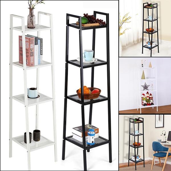 Home 4 Tier Ladder Shelf Unit Bookshelf Bookcase Book Storage Display Rack Stand 35*35*145cm