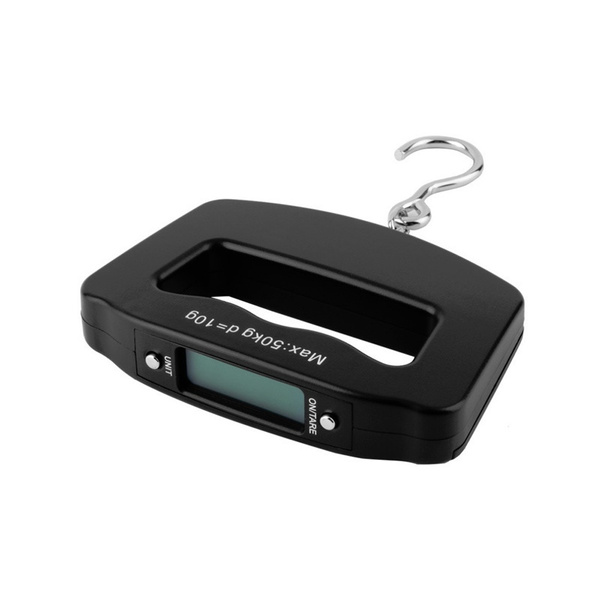 Wish | Trendy Portable Mini 40kg/100g 50kg/10g LCD Digital Scales Fish Hanging Luggage Weight Electronic Hook Scale
