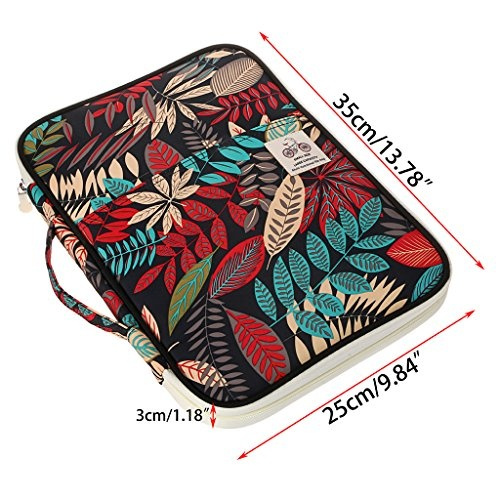 f1c8573fd6aa BTSKY New Multi-functional A4 Document Bags Portfolio Organizer--Waterproof  Travel Pouch Zippered Case for Ipads, Notebooks, Pens, Documents ...