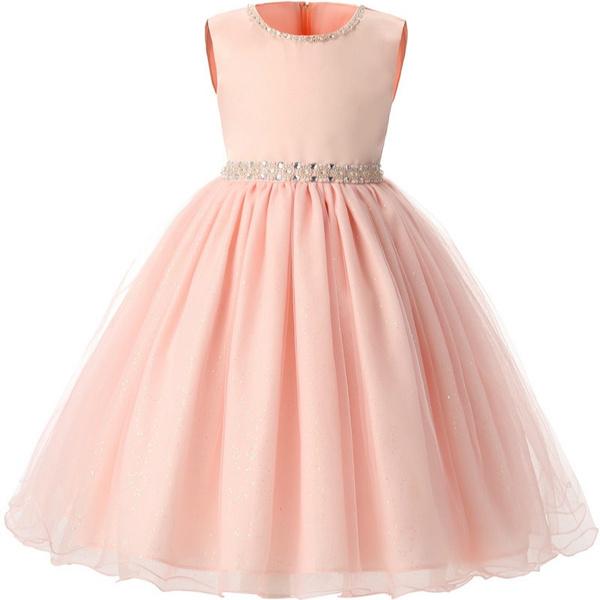 Sleeveless Summer Formal Dress for 0-8 Years