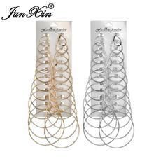 Hoop Earring, punk earring, gold, Women's Fashion