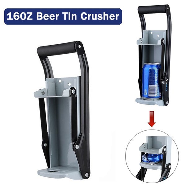 16oz Wall Mount Home Dispensing Can Crusher Smasher Beer Soda Cans Crushing Tool