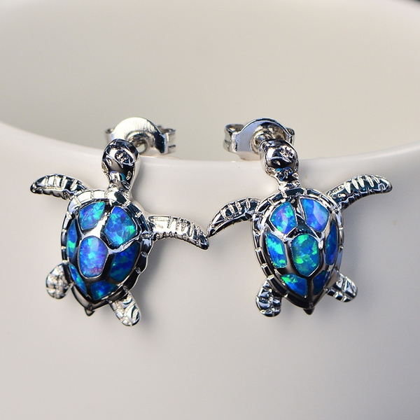 Turtle, cute, opalearring, Stud Earring