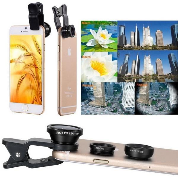 685aa61108e 3 in 1 Wide Angle Macro Fisheye Lens Microscope Smartphone Mobile Phone  lenses Fish Eye for iPhone 6 6s 7 s Plus Camera Lentes   Wish