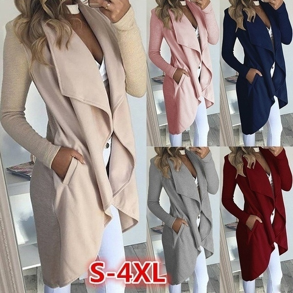 lapel, Plus Size, Sleeve, coatsampjacket