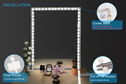How To Make A Vanity Mirror With Lights Delectable Wish Led Vanity Mirror Lights Kit ViLSOM 60ft60M 2600 LEDs Makeup