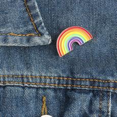 cute, rainbow, collarmetalbroochpin, Pins