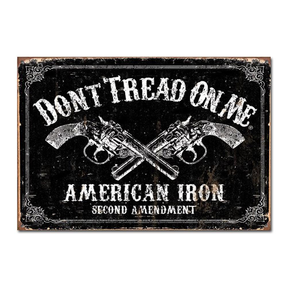 Pistols 2nd Amendment Tin Sign-Don/'t Tread On Me