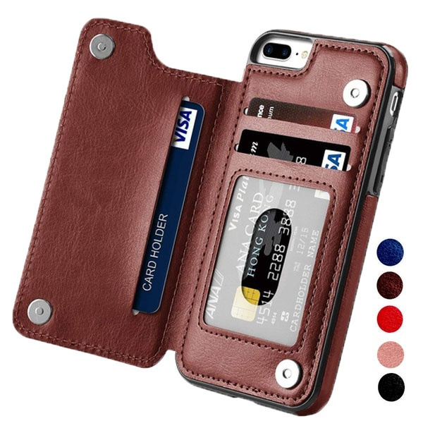 the best attitude 653a7 8222e High-grade Business Men Women Magnetic Leather Wallet Case Card Slot  Shockproof Flip Cover for iPhone XR/XS Max/XS/X/8/8 Plus/ 7/7 Plus/6/6  Plus/6S/6S ...