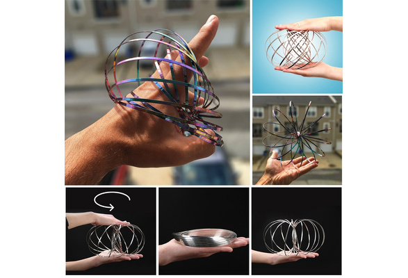 Magic Flow Toy Holographic by While Moving Creates a Ring Flow Rainbow Effect