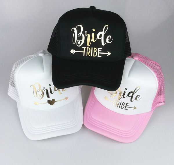 136c8c5a8923d BRIDE TRIBE Trucker Hats Bachelorette Snapback Cap Team Bride Neon ...