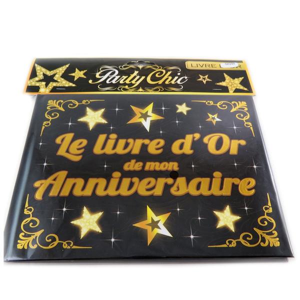 Les Tresors De Lily Q0295 Livre D Or Mon Anniversaire Noir Dore Book Of Gold Mon Anniversaire Black Golden Book Of Gold Mon