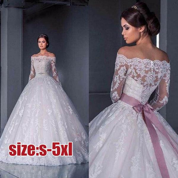 New Brides Wedding Dress Long Sleeved Lace Pattern Long Tail Skirt Extravagant Wedding Dressbody Hugging Dress Plus Size S 5xl