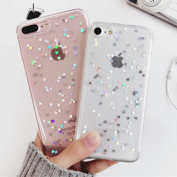 ebd578e45a New Fashion Simple Love Glitter TPU Iphone Case Cute Little Girl ...