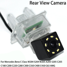 LEDs Car Rear View Camera for Mercedes Benz C180 C200 C280 C300 C350 C63 AMG// MB C Class W204// MB E Class W212 W207 C207/& HD CCD Night Vision Waterproof and Shockproof Reversing Backup Camera aSATAH 8 LED