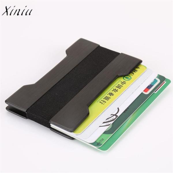 Carte Bleue Wish.Men Metal Wallet Credit Card Holder Aluminum Mini Wallet With Blocking Business Card Holders Porte Carte Bancaire Aluminium