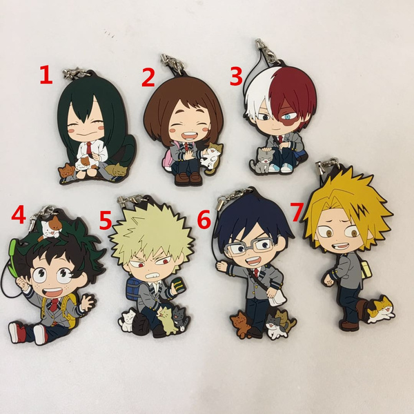 New Japan anime Boku no Hero Academia rubber Keychain Key Ring Rare cosplay