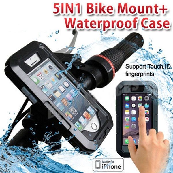 newest 4bccc b7cc4 Outdoor Waterproof Motorcycle Bike Bicycle Handlebar Mount Holder Case For  iPhone 7 8 8 Plus X 6 6s Plus & Samsung Galaxy S8/S8 Plus/S9/S9 ...