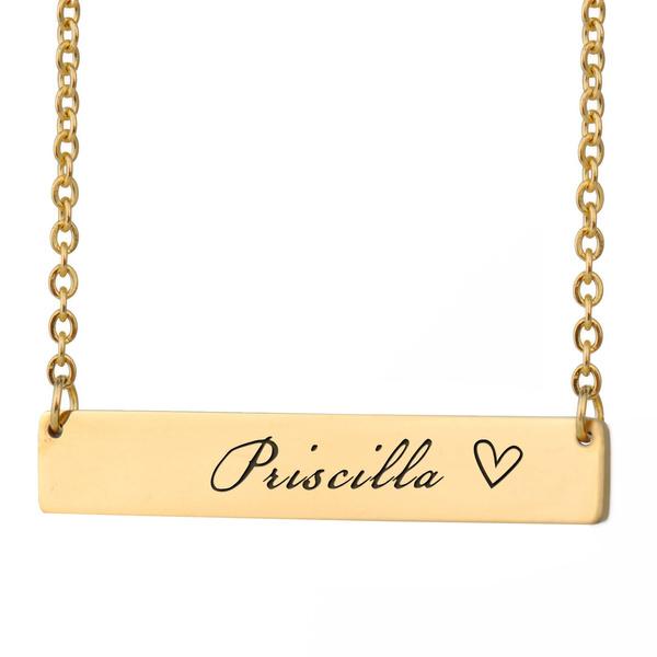 Priscilla Nameplate Name Initial Letter Words Bar Coordinates